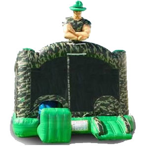 Camoflauge Slide Bouncer Rentals