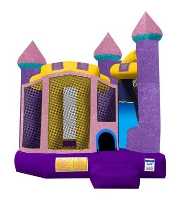 Glitter Castle Slide Bouncer Rentals