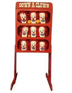 Clown Knockdown Carnival Game Rentals
